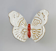 Porzellan Schmetterling weiß/gold Ens 9,5x9x3cm 9941665