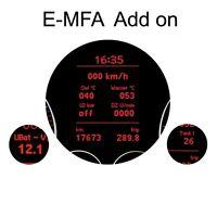 Kufatec 36810 E-MFA Anzeige Ladedruck Öltemperatur km/h im Tacho Interface
