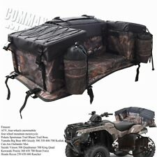 4-Wheeler ATV Rear Seat Rack Gear Storage Bag with Cushion For Suzuki King Quad