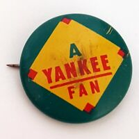 New York Yankees Fan Guys Potato Chips Baseball MLB Vintage Button Pin