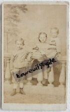 CDV PHOTO 1871 Adolph ZEISIG PERLEBERG  enfants Elisabett Walter U405