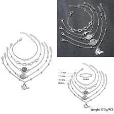 Vintage Flash Diamant Liebe Kreuz Armband Shell Fischschwanz Anhänger Armbänder