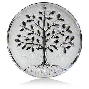 Tree of Life Decorative Wall Hanging Mounted Plate Dish Silver Finish Ornament