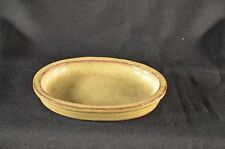 "Bonsai Pot/Tray,Ceramic Humidity Tray,6"" Brown,Oval Shape,Hard To Find!"