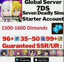 Seven Deadly Sins (7DS) GRAND CROSS global +1500 gems +96 SSR Tickets...