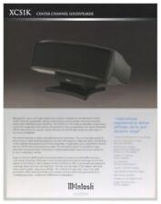 Mcintosh XCS1K Original Center Channel Speaker Brochure