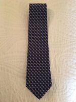 NWOT Brooks Brothers Boys Peach Navy White Herringbone Stripe Tie  MSRP $44.50