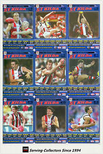 2006 AFL Teamcoach Tradinging Card Blue Platinum Team Set St. Kilda (10)