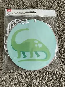 Dinosaur Novelty Bunting Banner Happy Birthday Home Party Card Decoration Round
