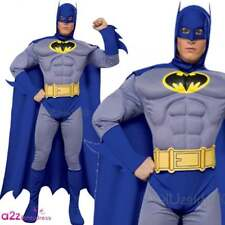 Adult Deluxe Brave Bold Batman Mens Fancy Dress Costume Halloween Party Outfit