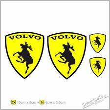 Volvo Elch Moose Embleme | 4er Set | 10x8cm | 4x3,5cm | Auto Aufkleber Sticker