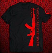 Taking care of Business - Kalaschnikow rot T-Shirt, Rotlicht schwarz