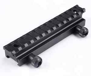 13 Slot Höhen Adapter Montage Weaver Picatinny Schiene 21mm Erhöhung 136mm Jagd