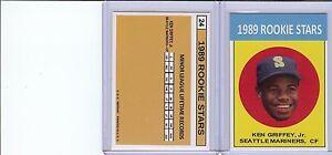 Rare 1963 1989 Ken Griffey Jr. Reprint Card MINT