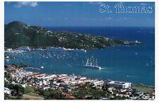 1980s St. Thomas Postcard - St Thomas, Charlotte Amalie Harbour Harbor