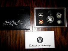 1997 Silver Proof Set US Mint 5 Coins Box + COA
