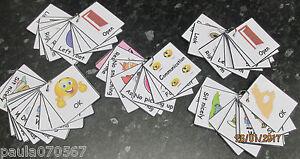 NEW Communication, behaviour and actions cards Autism ~ASD~SEN~Home 7cm x 6.5cm