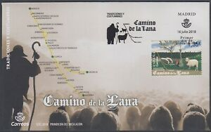 España Spain 5244 2018 Camino de la Lana SPD Sobre Primer Día