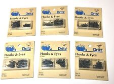12 sets per Card Bulk Lot of 5 Vintage Carded Black NEWEY HOOKS /& EYES Size 1