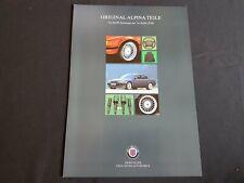 1998 BMW Alpina Teile für BMW 7er Reihe E38 Spoiler Felgen Prospekt Brochure