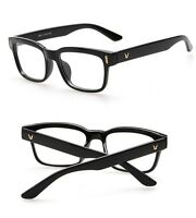 Hot Fashion Mens Womens Retro Clear Lens Glasses Frame Eyewear Unisex - Black