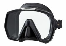 Tusa Freedom HD Silicone Mask Panoramic View Superior Comfort Fit - Black Black