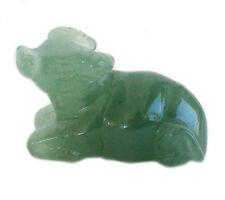 Chinese Zodiac Jade Ox Statue