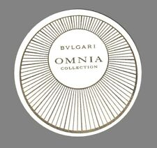 Carte publicitaire   -  Omnia  Collection tde Bvlgari recto verso