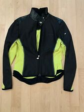 Assos Womens Long Sleeve Full Zip Screaming Yellow Cycling Jacket Sz XL