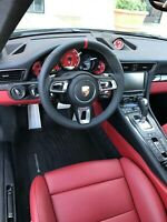 PORSCHE 991 991.2 PDK TURBO S GT 3 997.2 BLK LTH STEERING WHEEL RED TOP & A BAG