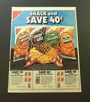 VTG 1982 Nabisco Potato Chips Snack Bag & Mister Salty Pretzels Print Ad Coupon