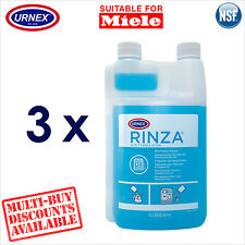 3 x Urnex Milk Line Frother Arm Cleaner Acid for Miele Coffee Machine