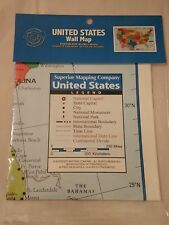 United States Wall Map, poster size: 40in[W]x28in[H] Made in the USA
