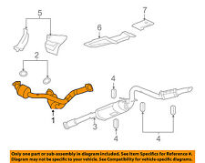 GM OEM-Exhaust System-Catalytic Converter & Pipe 20963621