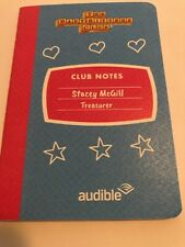 Babysitters Club BookCon Stacey McGill Blue & Pink Audible Mini Notebook Rare