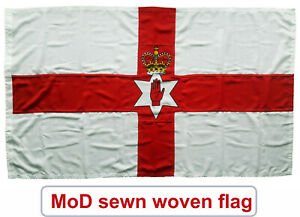 Ulster banner sewn unionist loyalist northern irish flag ireland mod red hand