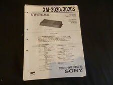 Original Service Manual Sony XM-3020/3020S