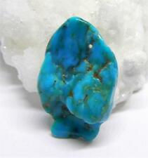 RARE NATURAL UNTREATED BLUE MEXICAN TURQUOISE PENDANT BEAD 28mm 18cts