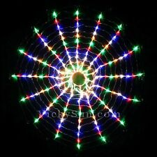 192 LED Multi Colour Circle Net Christmas Lights with Spider Web Function 90CM