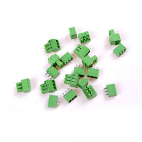 10Pcs KF-3P 3PIN Right Angle Plug-in Terminal Connector 3.81mm Pitch  BDAUyu