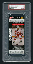 PSA 7 NICKLAUS LINDSTROM Unused NHL Ticket for the Blackhawks at the Red Wings