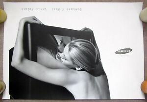 SAMSUNG__Orig. 1995 Ad Campaign 39x27 POSTER art__Arnell_Theatre Room_TV