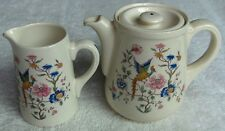 Royal Doulton England Furness Burmese 2 piece coffee or tea set~Bird of Paradise