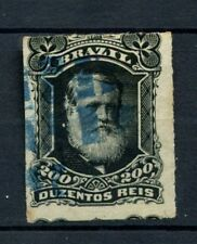 Brazil 1878-9 SG#62 200R Emperor Pedro II Rouletted Used #A22852