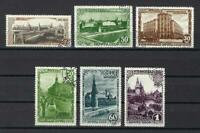 Russia 1947 Sc# 1134/42 Moscow 800 years anniversary 6 stamps NH CTO