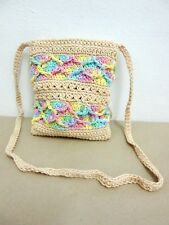 ND 03 KNIT CROCHET SHOULDER BAG S HANDICRAFT CROSSBODY WEAVE SLING HOBO HANDMADE