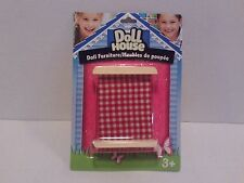 "Wooden Dollhouse Furniture - ""Bed"" Girls Pretend Play, Doll Toy Game Arts/Crafts"
