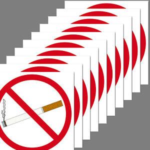 10 Sticker 10cm Square Sticker Smoking Non-Smoking Verboten