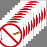 10 Aufkleber 10cm quadratisch Sticker Rauchverbot Nichtraucher Rauchen Verboten