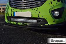 To Fit 2014+ Renault Trafic Steel Bumper Nudge Chin City Spoiler Bar Matte Black
